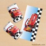 FREE Printable Cars Lightning McQueen Mini Candy Bar Wrappers