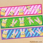 FREE Printable Easter Bunny Minion Water Bottle Labels