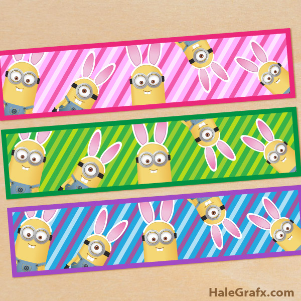 FREE Printable Easter Minions Water Bottle Labels
