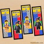 FREE Printable LEGO Movie Emmet and Wyldstyle Bookmarks