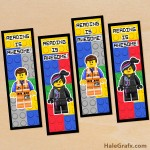 FREE Printable LEGO Movie Emmet and Wyldstyle Bookmarks