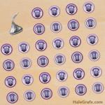 FREE Printable Evil Purple Minion Hershey's Kisses Stickers