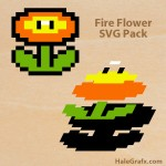 FREE Super Mario Fire Flower SVG Pack