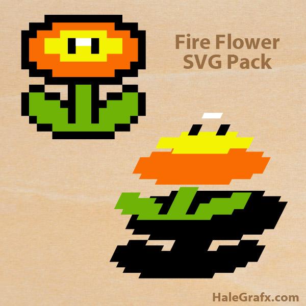 FREE Super Mario Fire Flower SVG Pack