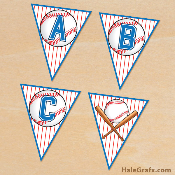 FREE Printable Baseball Alphabet Banner