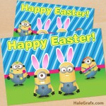 FREE Printable Despicable Me Easter Minion Card