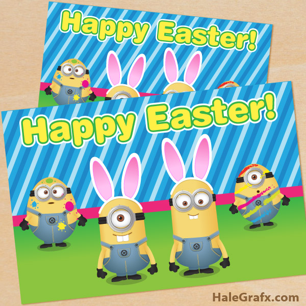 free easter minion card FREE Printable Despicable Me Easter Minion Card
