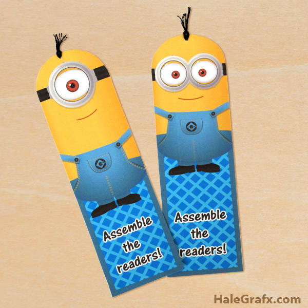 free printable despicable me minion bookmarks