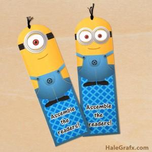 FREE Printable Despicable Me Minion Bookmarks