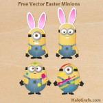 FREE Vector Despicable Me Easter Minions