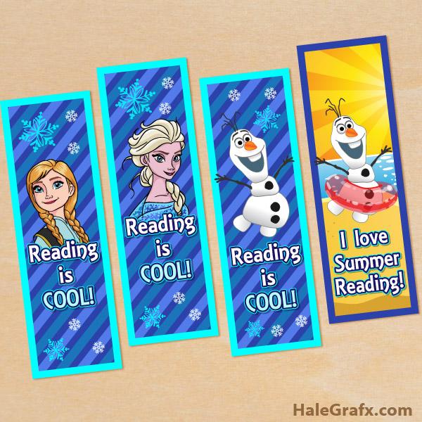 frozen reading bookmarks FREE Printable Frozen Bookmarks