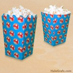 FREE Printable Super Mario Mushroom Popcorn Box