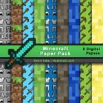 FREE Minecraft Digital Paper Pack