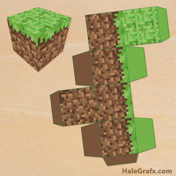 FREE Printable Minecraft Treat Box fCk6TITE