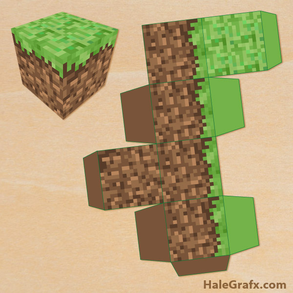 FREE Printable Minecraft Treat Box