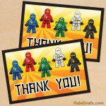 FREE Printable Ninjago Thank You Card
