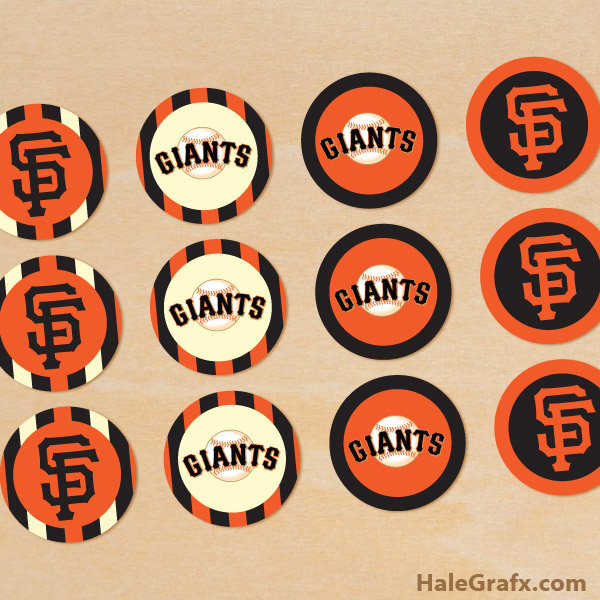 photograph relating to Sf Giants Printable Schedule identify Absolutely free Printable San Francisco Giants Cupcake Toppers