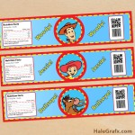 FREE Printable Toy Story Woody and Jessie Water Bottle Labels