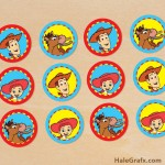 FREE Printable Toy Story Woody and Jessie Cupcake Toppers