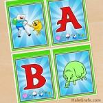 FREE Printable Adventure Time Alphabet Banner Pack