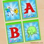 FREE Printable Adventure Time Alphabet Banner Pack