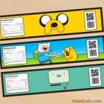 FREE Printable Adventure Time Water Bottle Labels