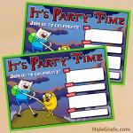 FREE Printable Adventure Time Birthday Invitation