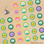 FREE Printable Adventure Time Hershey's Kisses Stickers