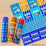 FREE Printable Frozen ChapStick Labels