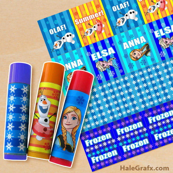 FREE Printable Frozen ChapStick Labels