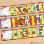 FREE Printable JoJo's Circus Water Bottle Labels