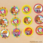 FREE Printable JoJo's Circus Clown Cupcake Toppers