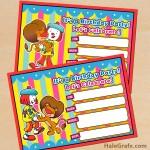 FREE Printable JoJo's Circus Birthday Invitation