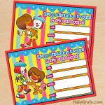 FREE Printable JoJo's Circus Birthday Invitation