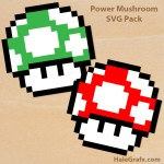 FREE Super Mario Power Mushroom SVG Pack