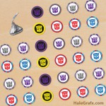FREE Printable Transformers Hershey's Kisses Stickers