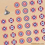 FREE Printable 4th of July Hershey's Kisses Stickers
