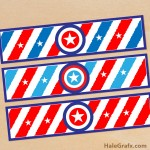 FREE Printable 4th of July Water Bottle Labels