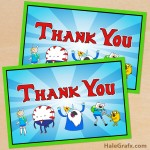 FREE Printable Adventure Time Thank You Card