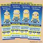 FREE Printable Despicable Me Minion Ticket Invitations