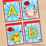 FREE Printable Pokémon Alphabet Banner Pack