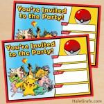 FREE Printable Pokémon Birthday Invitation