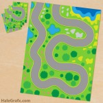 Free Printable Play Mat for Toy Cars
