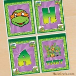 FREE Printable Retro TMNT Ninja Turtle Birthday Banner