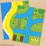 Free Printable Hello Kitty themed Play Mat Set