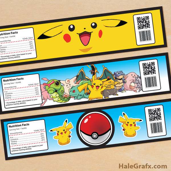 graphic about Free Printable Pokemon named No cost Printable Pokémon Drinking water Bottle Labels