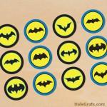 FREE Printable Batman Cupcake Toppers