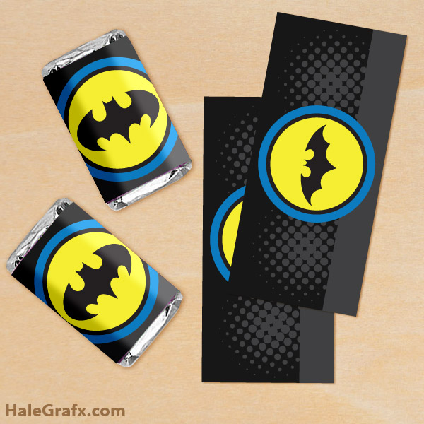 free printable batman mini candy bar wrappers - Free Printable Batman Pictures