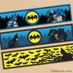 FREE Printable Batman Water Bottle Labels
