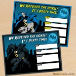 FREE Printable Batman Birthday Invitation Set